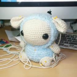 Sheep WIP by Heartstringcrochet