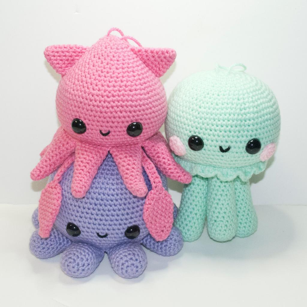 Kawaii Amigurumi Free Patterns : The Cephalopod Squad by Heartstringcrochet on DeviantArt