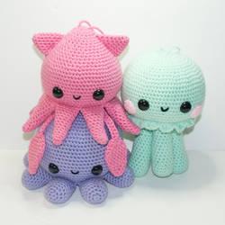 The Cephalopod Squad by Heartstringcrochet