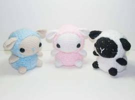 Baby Sheep Pattern by Heartstringcrochet