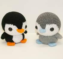 Baby Penguins by Heartstringcrochet