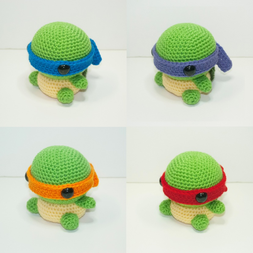 Teenage Mutant Ninja Turtles (TMNT) Amigurumi | Fat Face & Me | 830x829