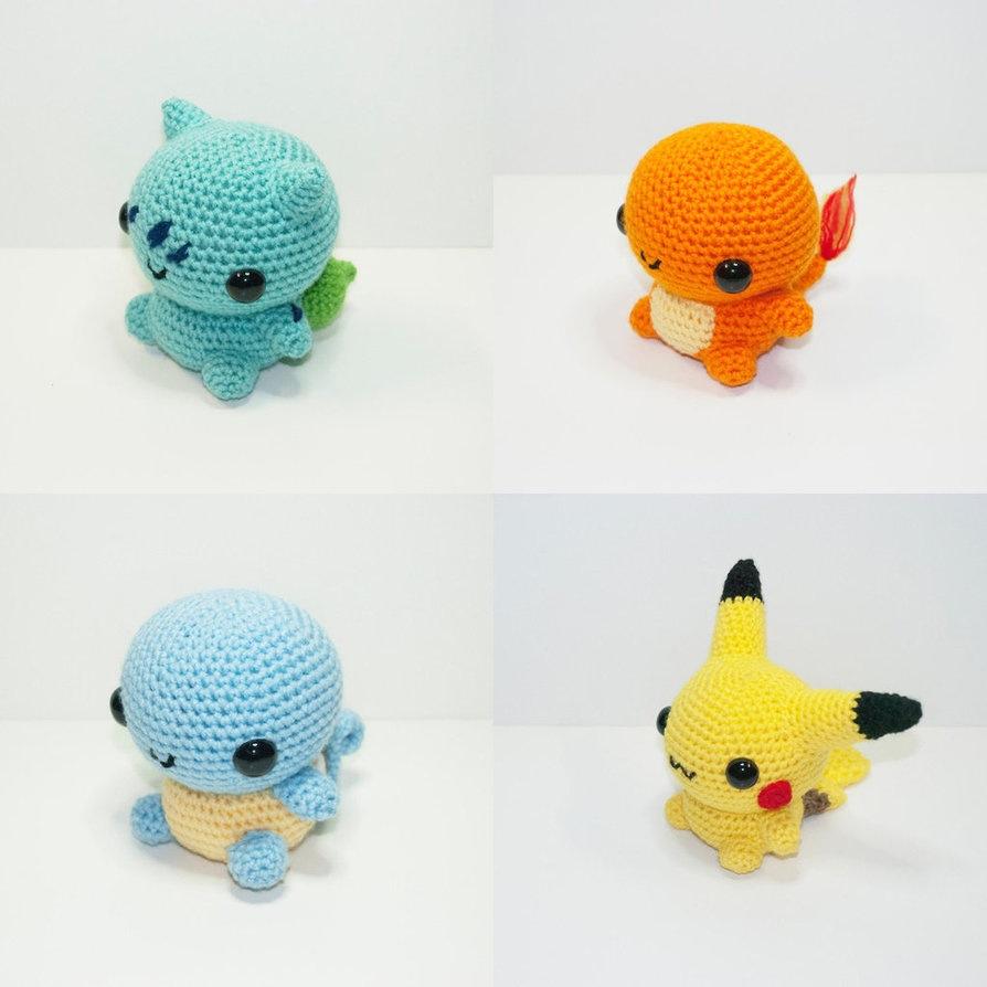 Chibi Pikachu Amigurumi : Kanto Starter by Heartstringcrochet on DeviantArt