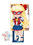 Sailor V and Artemis by NikkoTakishima
