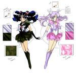 Nehelenia and Sailor Lavender Cherry Moon