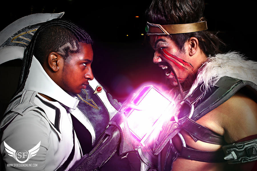 League of Legends: Lucian VS Draven by SFDesign21
