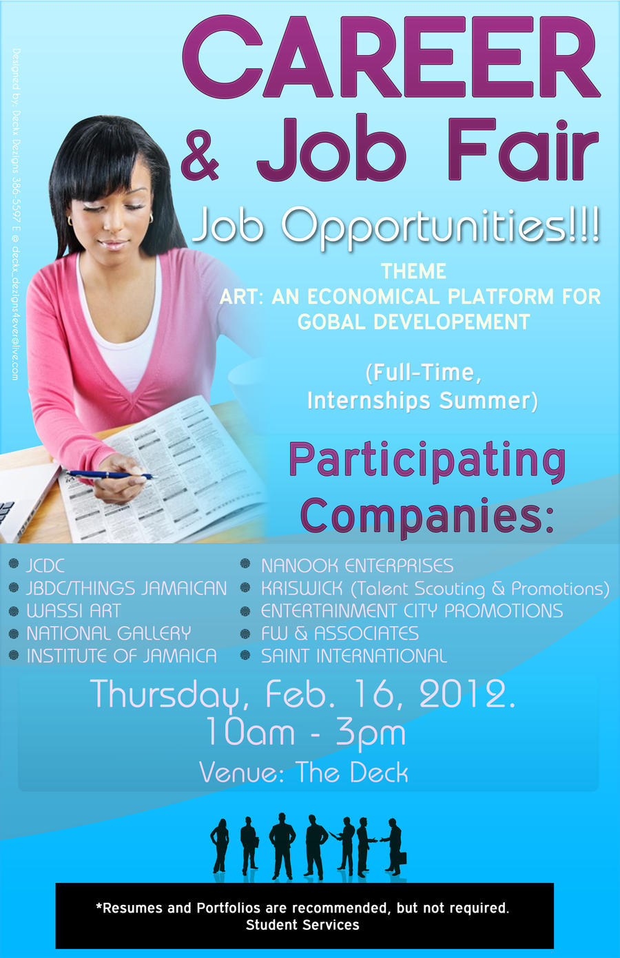 career and job fair poster by deckxdezigns on career and job fair poster by deckxdezigns