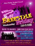 Freestyle fridays party poster