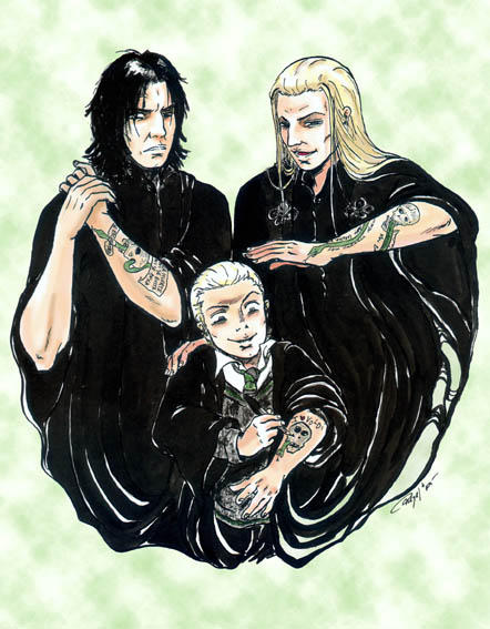 Snape, Lucius and Draco... by Manechan