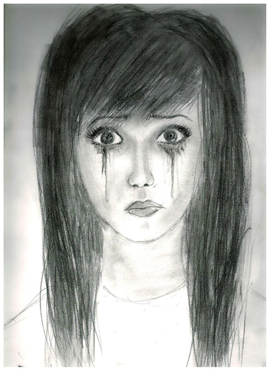 Running Mascara Drawing mascara & teardrop...