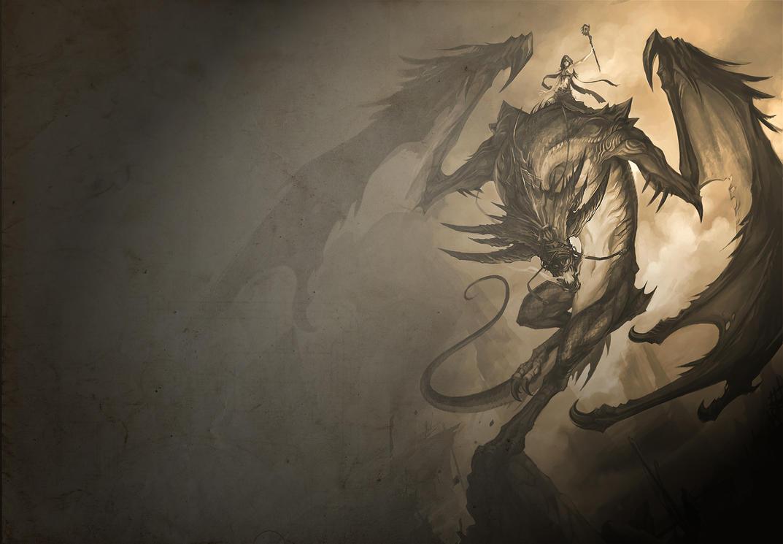Dragon Wallpaper #1 (Original Image by Sandara) by kushion08