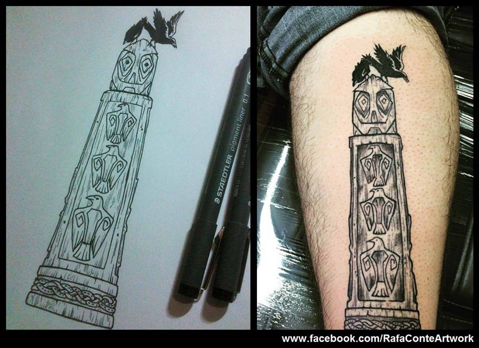 Odin Totem Tattoo by RafaConte