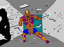 Anubis crash through by GalaxyZento
