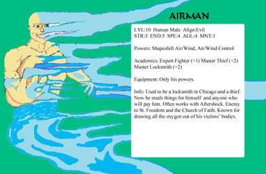 Airman char stats by GalaxyZento