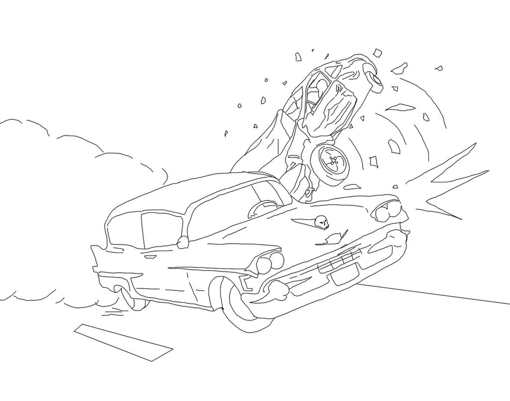 Rampaging Vehicle Bw by GalaxyZento