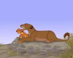 Sarabi and Simba