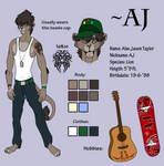 AJ charactersheet :anthro:
