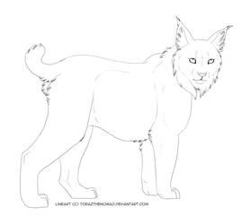 Lynx lineart by DRGNFL