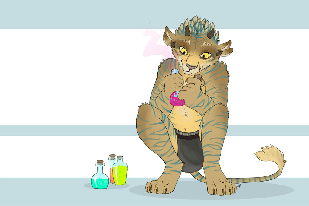 Experimenting with potions by TorazTheNomad