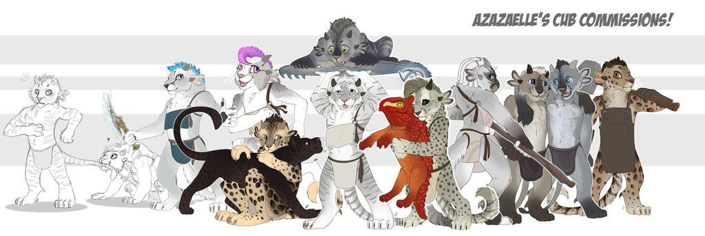 Charr cub commissions batch 4 by TorazTheNomad