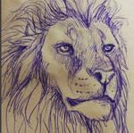Lion pen sketch