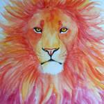 Blazing lion