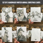 Christmas card set - Winter animal series  by Sevrn