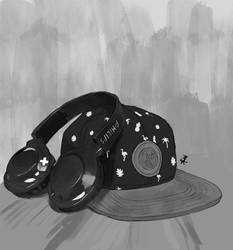 Object study - hat and headphones
