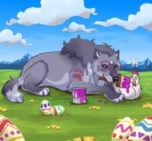 Decorating eggs - Tokotas easter event 2020
