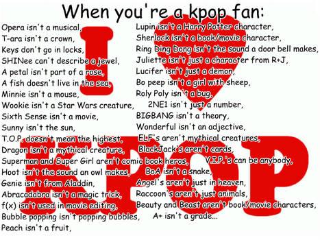 When you're a kpop fan...