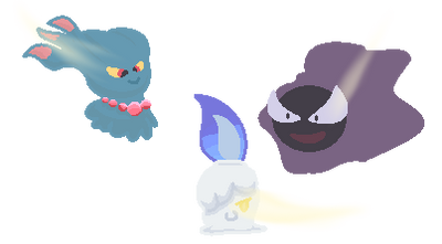 {PokeCampground} Tia's Ghosts by Hollowolfpup
