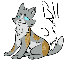 {Canon Breedable} Brightheart x Jayfeather by Hollowolfpup