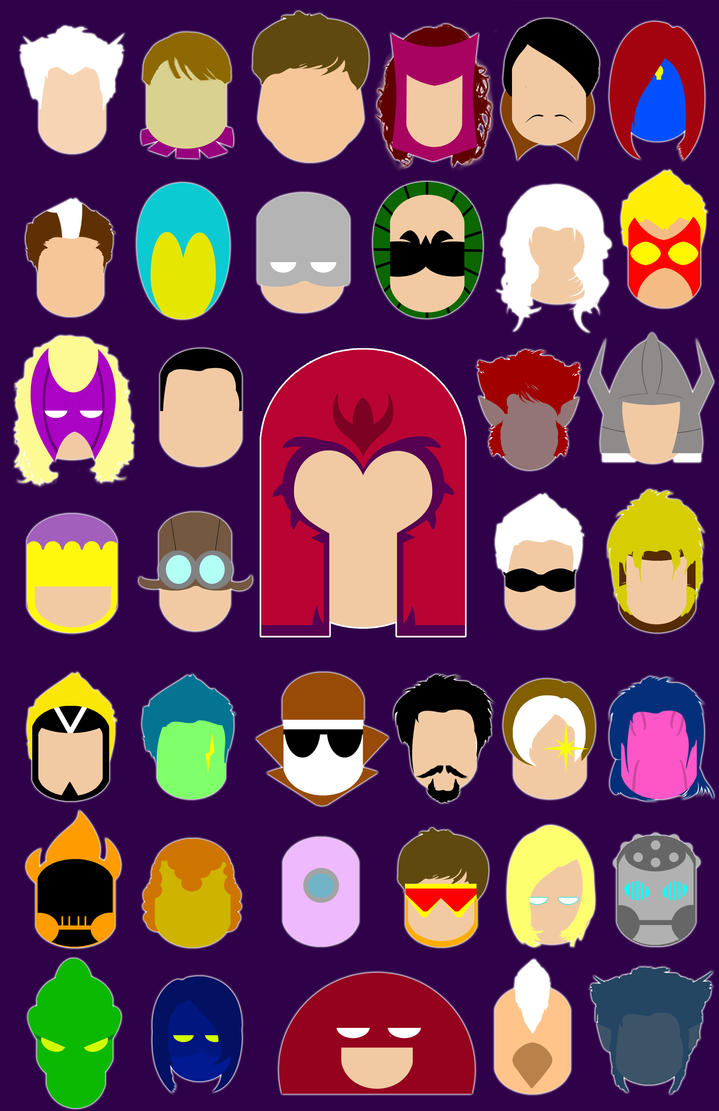 Brotherhood of Evil Mutant Iconz by Yusef-Muhammed