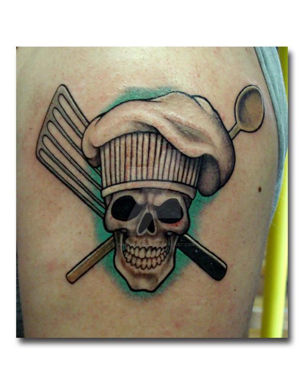 chef's skull and utencils by Pancho-Villa