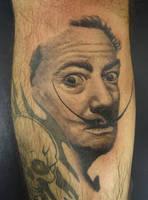 Salvador Dali Tattoo by Pancho-Villa
