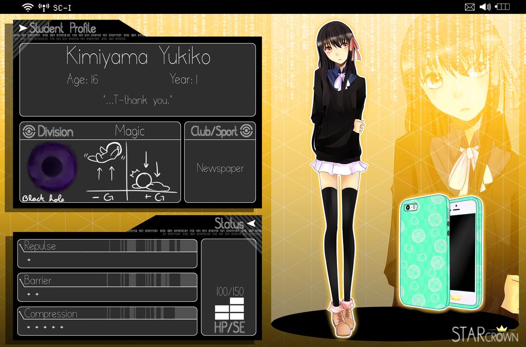 STAR CROWN: Kimiyama Yukiko by Leafy-chwan