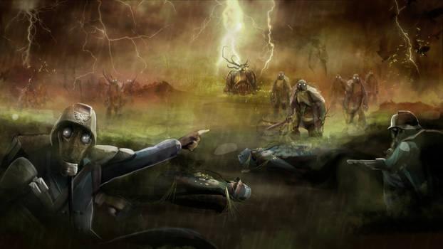 Death Korps vs Plague Marines