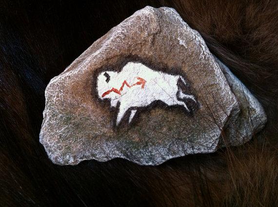 White Bison Spirit Stone by KonKataCreations
