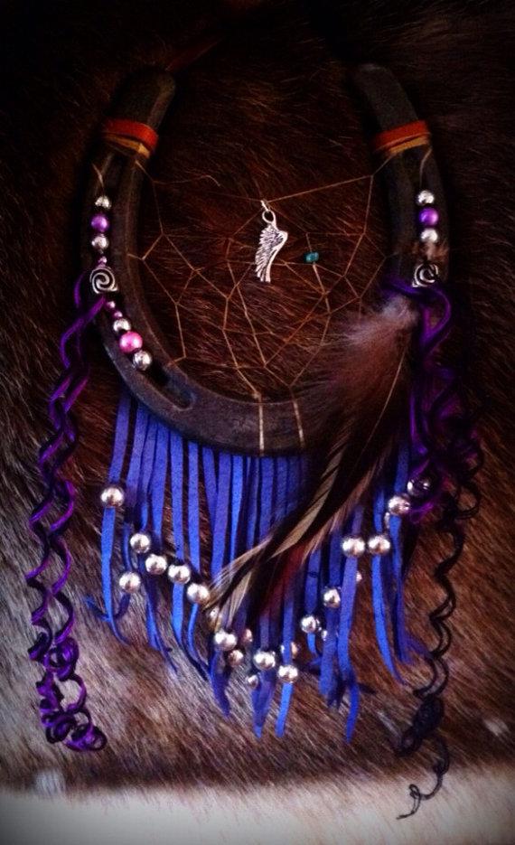 Violet Flight Dreamcatcher by KonKataCreations