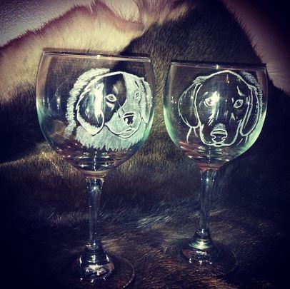 Two Custom Glasses by KonKataCreations