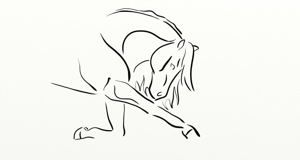 Bowing Horse by KonKataCreations