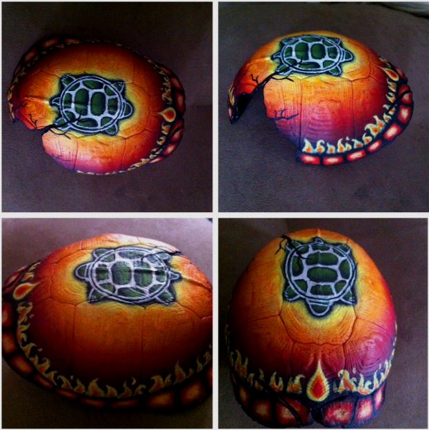 Fire Element Turtle Shell by KonKataCreations