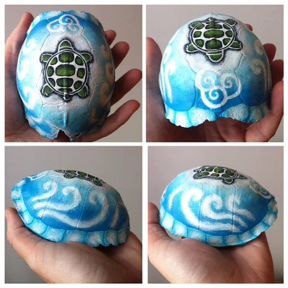 Air Element Turtle Shell by KonKataCreations