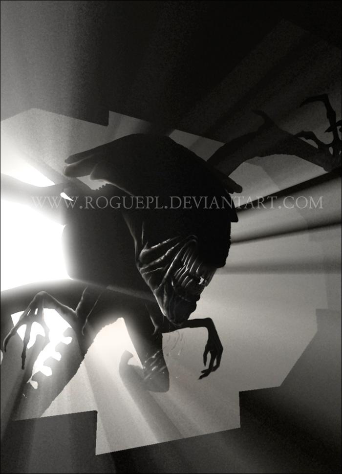 Charging Alien Queen by RoguePL