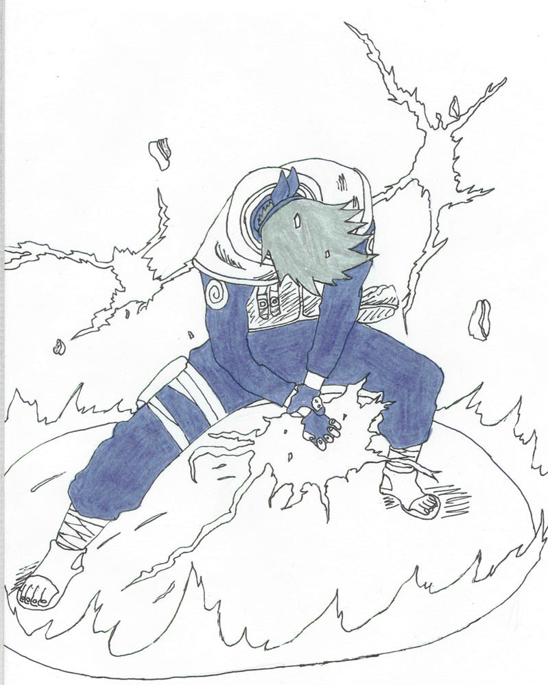 Kakashi-chidori by Madoru on DeviantArt
