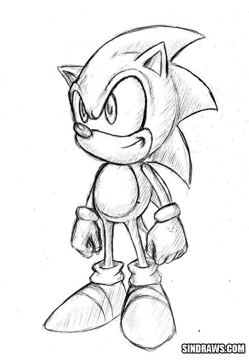 classic sonic by sindraws on deviantart