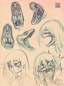 Lucia Mouth Design Sketches