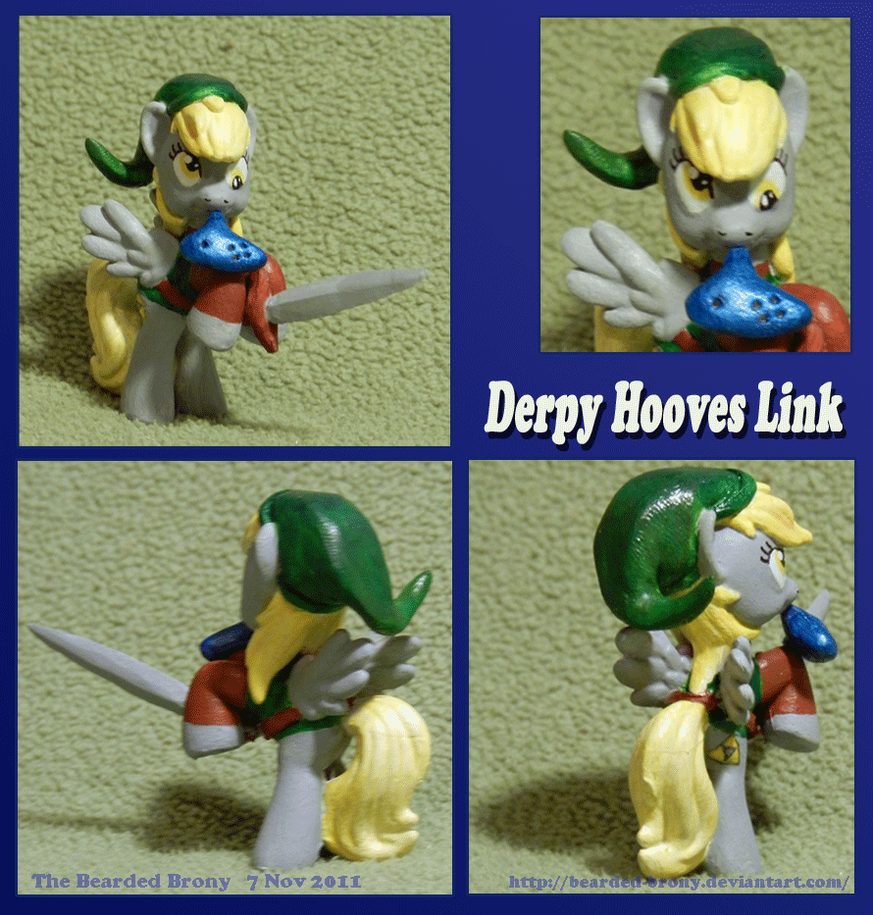 Derpy Hooves as Link v1 by Bearded-Brony