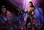 Sci-fi warrior-2 by MariaMoonArt