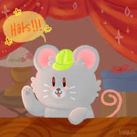 Stardew Valley - Hat Mouse by squithulu